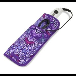 Curling & Flat iron cover Lilac tapestry